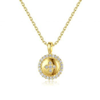 Round diamond necklace for ladies