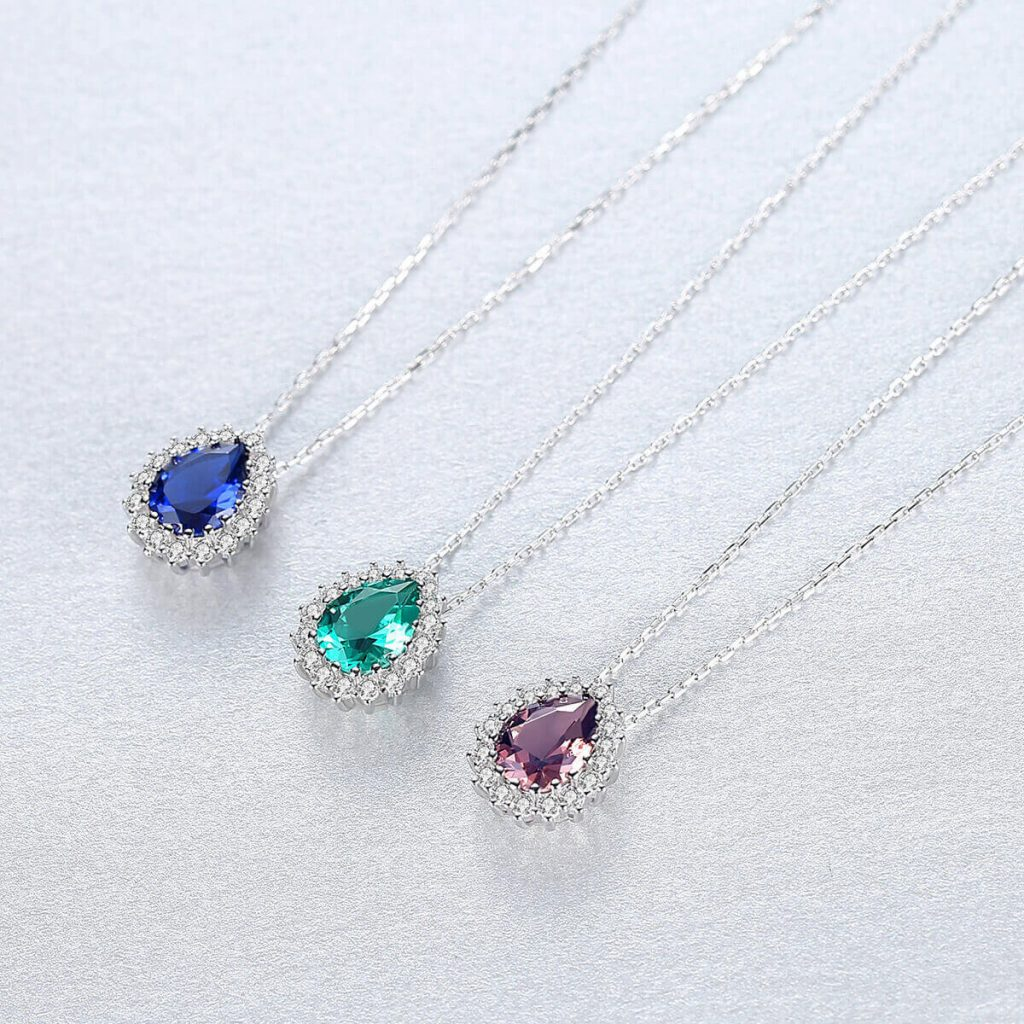 sapphire necklace for women